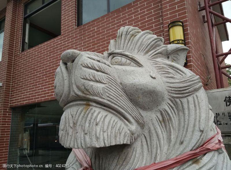 鼎狮子雕像图片