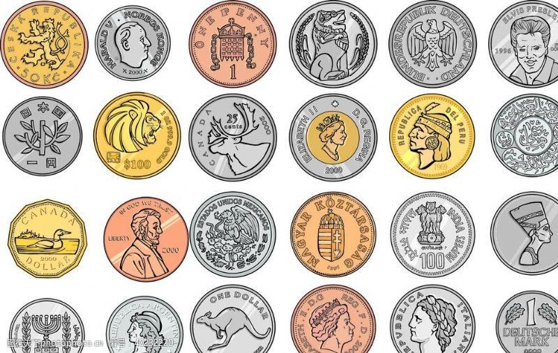 数码设计手绘金币图片