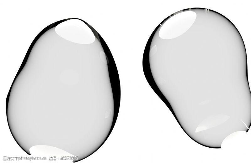 psd水滴免抠泡泡透明肥皂泡泡图片