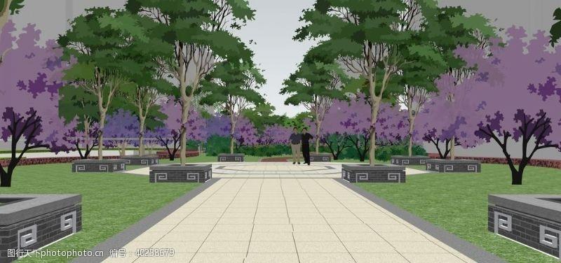 花园小区景观园林设计效果图图片