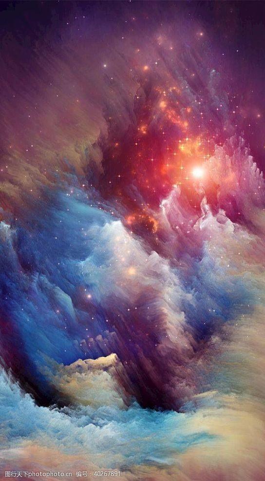 光晕星空图片