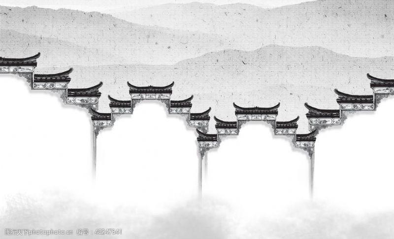 玉石城楼山水图片