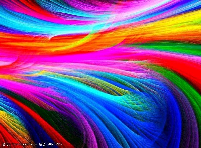 彩虹抽象炫彩图片背景