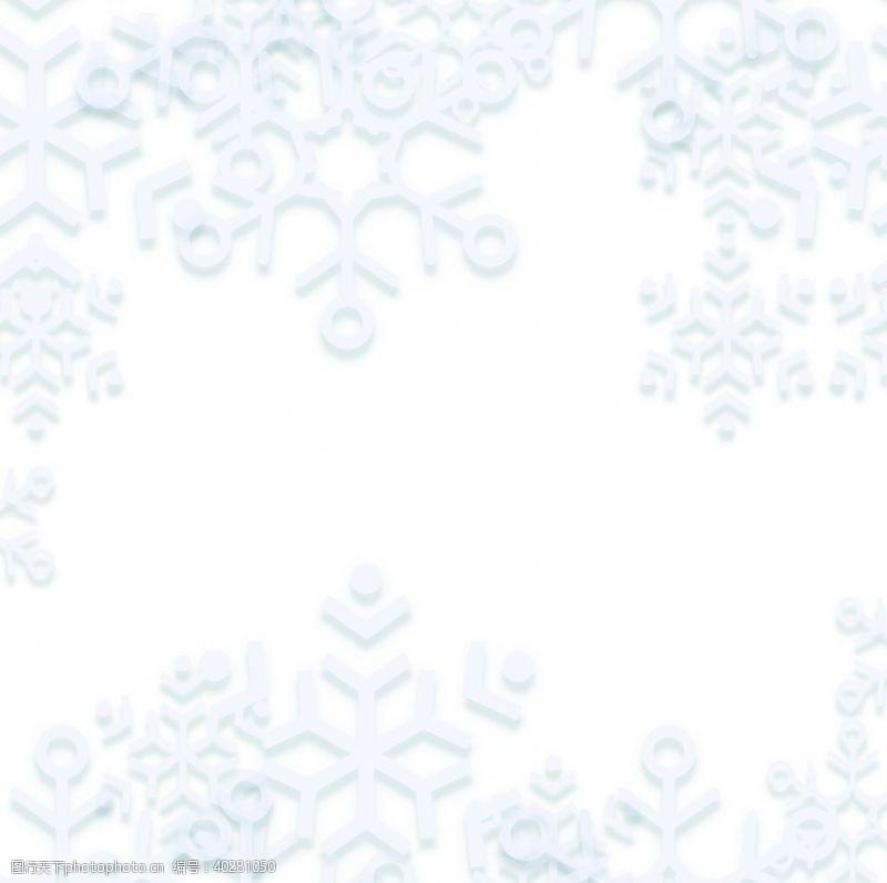 动漫动画冬季雪花图片