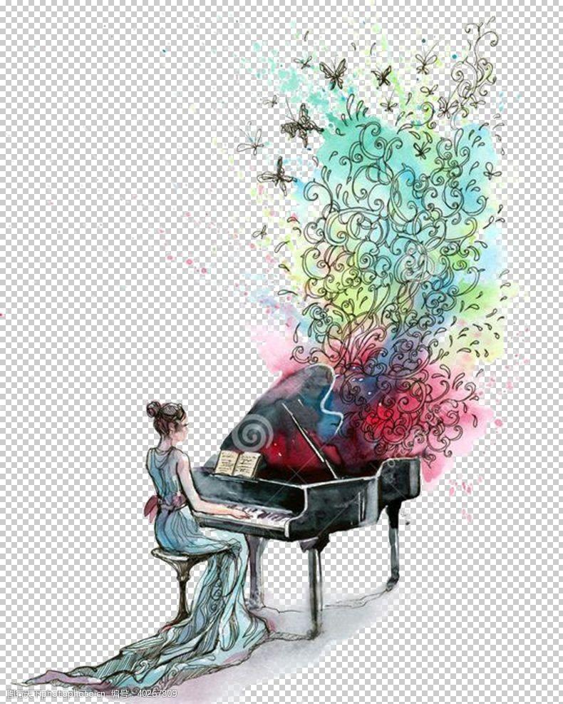 音乐会钢琴图片