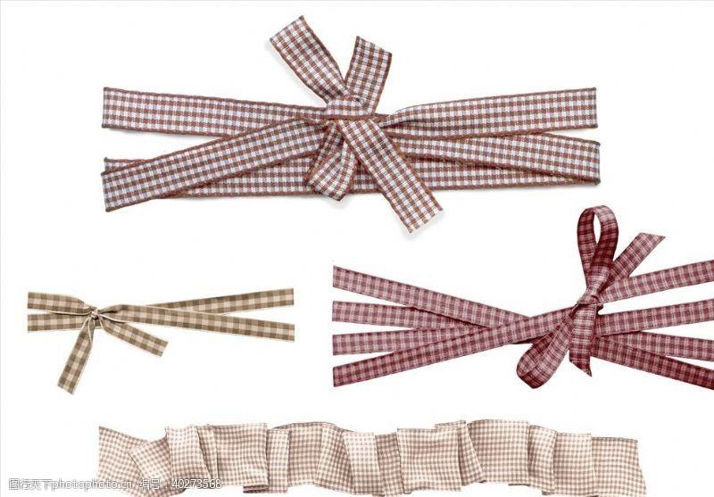 彩带格纹缎带免抠png图片