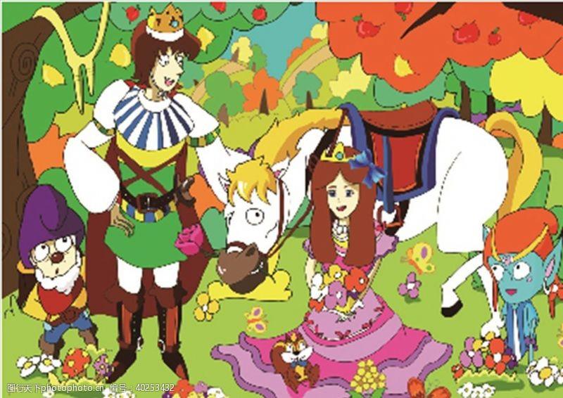 卡通兔子公主图片