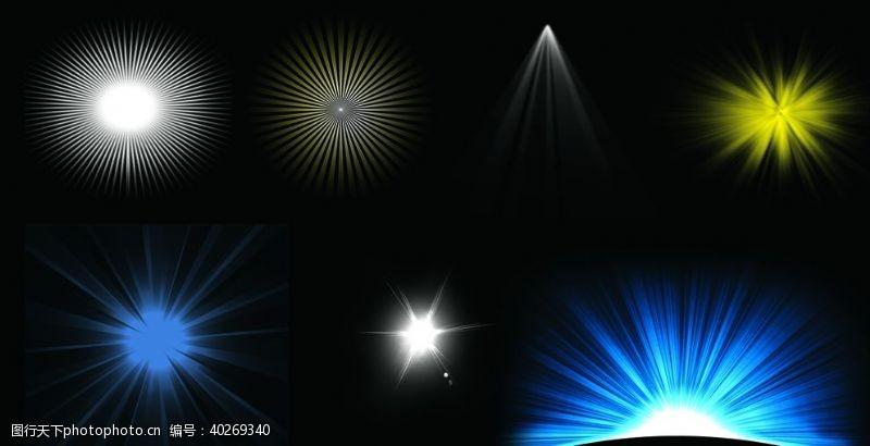 白色光线光芒图片