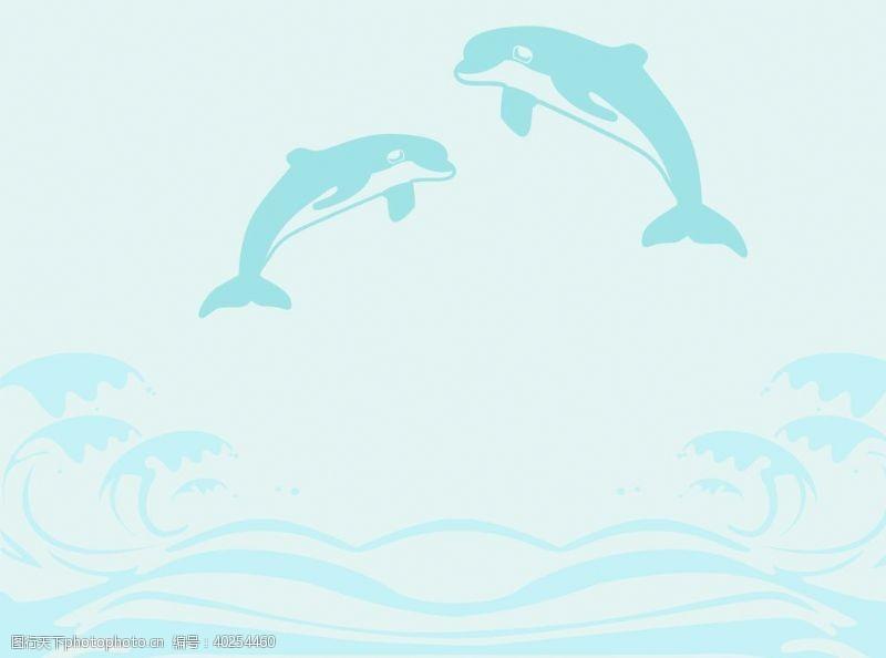 海豚硅藻泥儿童房背景墙贴图片