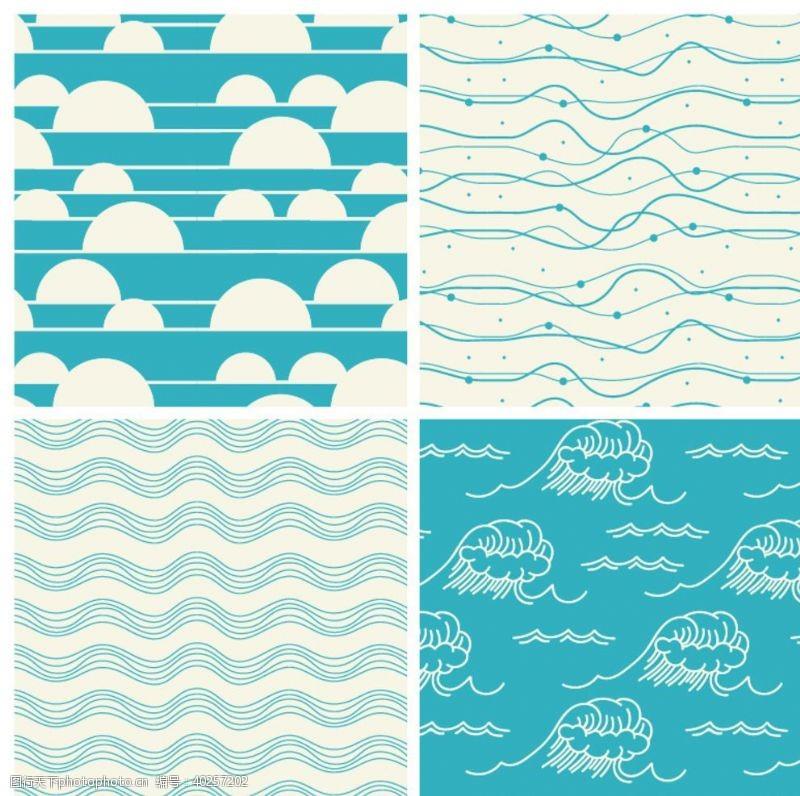 水波海浪波浪波纹图片