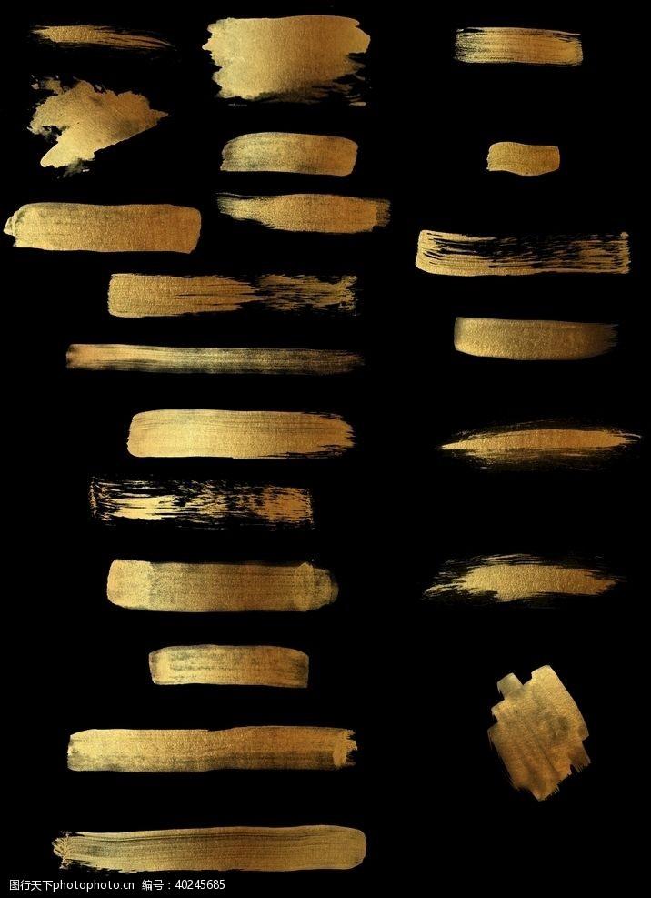 画册素材黄金漆质感墨迹图片