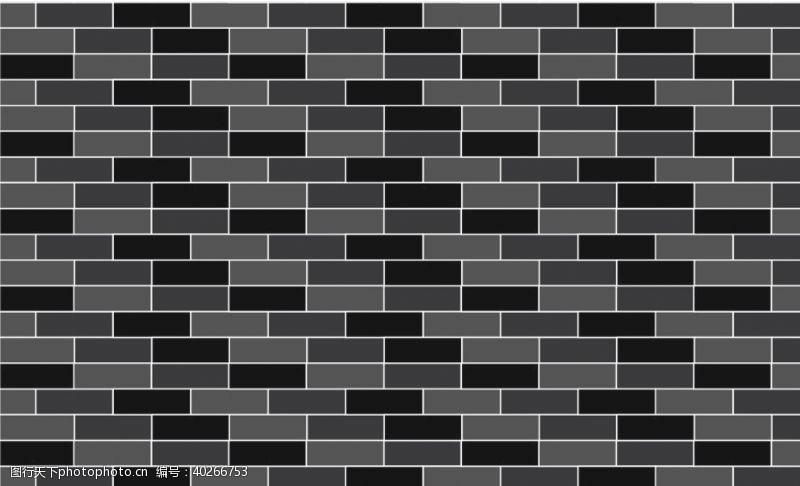 灰色徽派墙砖图片