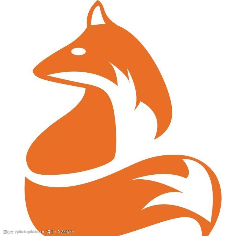 线描狐狸插图图片