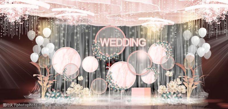 高端婚礼婚礼舞台效果图图片