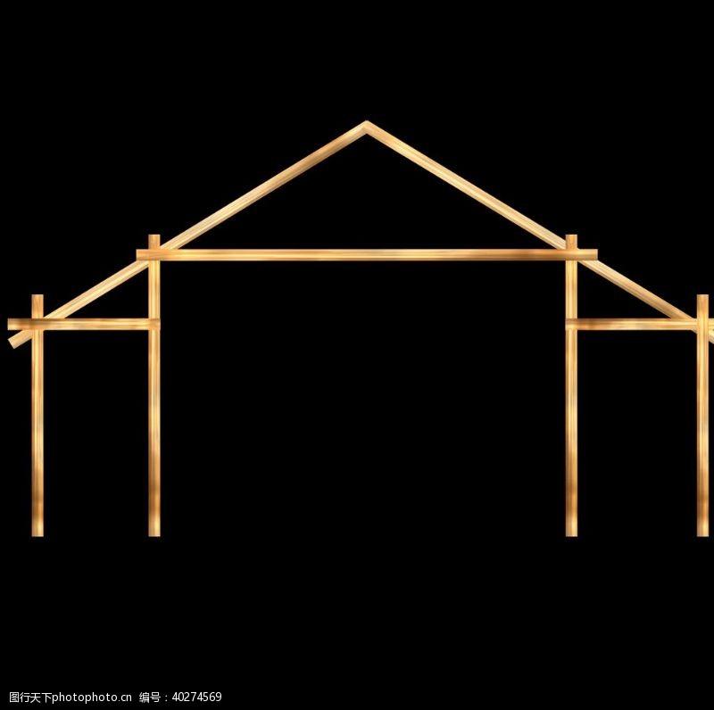 手婚礼效果图素材房型木架图片
