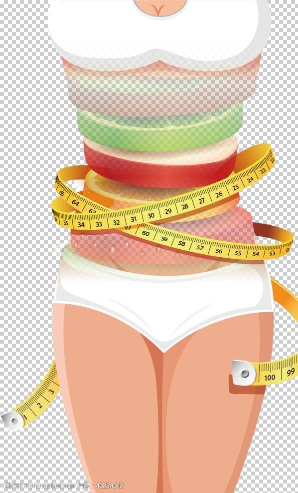 美容瘦身减肥瘦身整形美女模特PNG图片