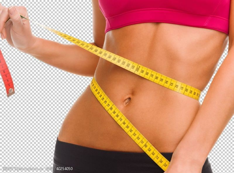 减肥瘦身整形美女模特PNG图片