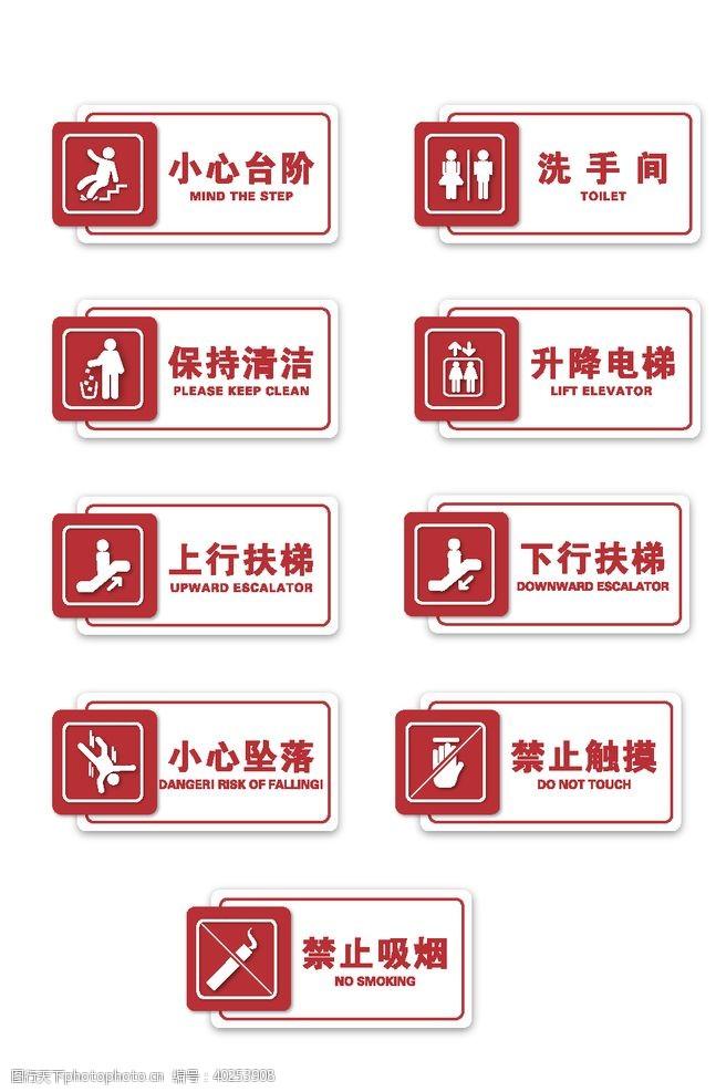 安全标志警示标识标牌图片