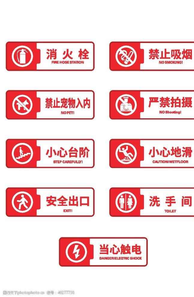 工地警示标识标牌图片