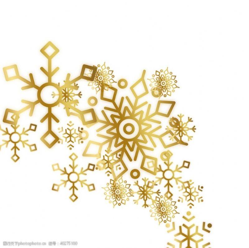 卡通素材金色大雪图片