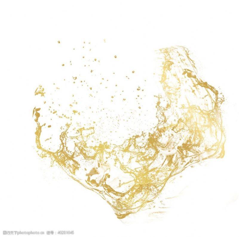 金色沙子装饰元素图片