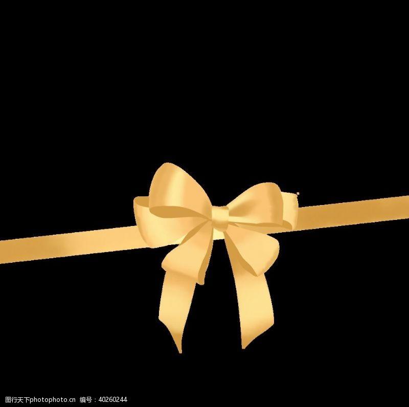 绸带金色丝带彩带蝴蝶花图片