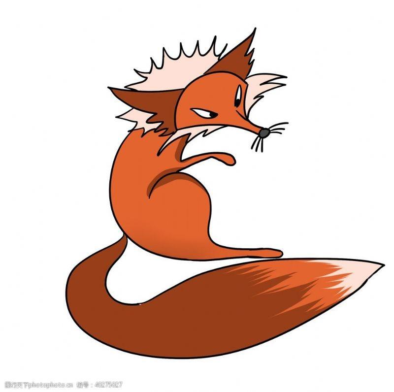 卡通小动物卡通狐狸手绘图片