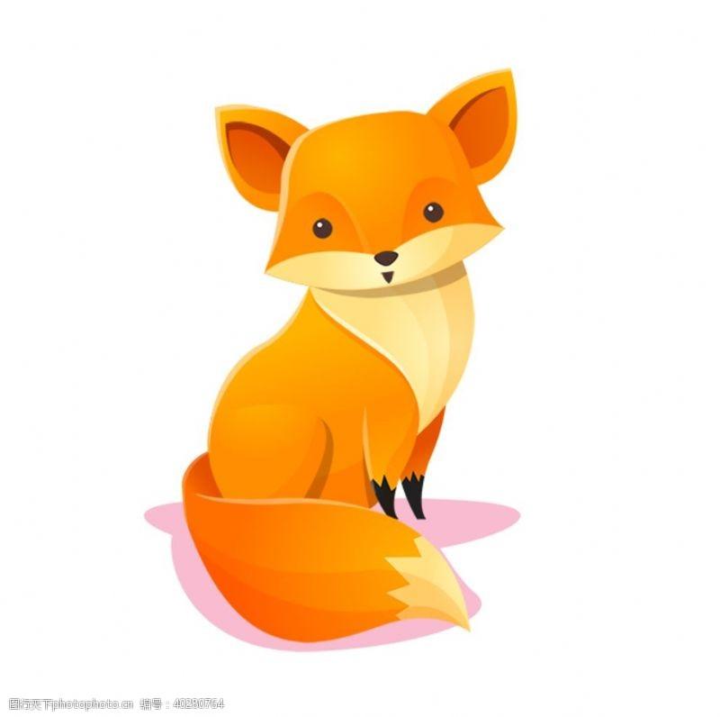 线描可爱卡通狐狸手绘图片