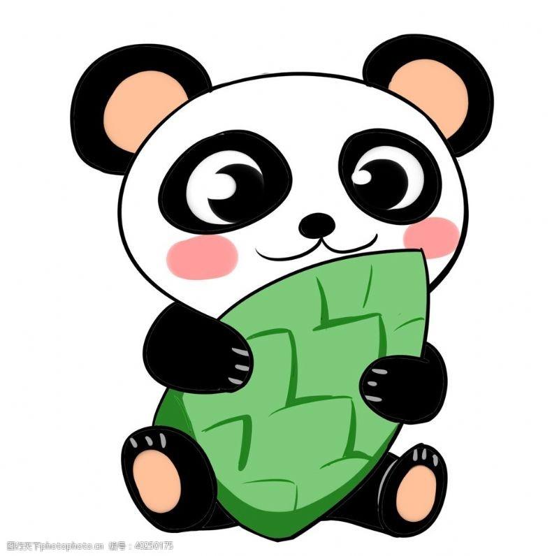 可爱熊猫矢量图图片