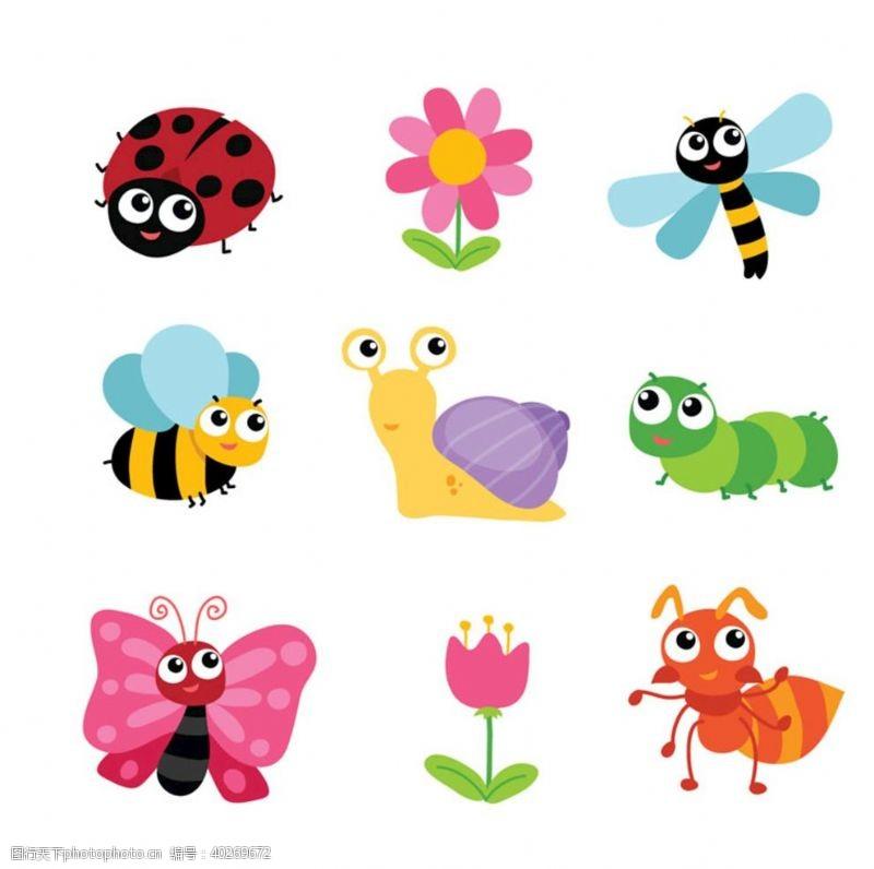 蜗牛昆虫蝴蝶图片