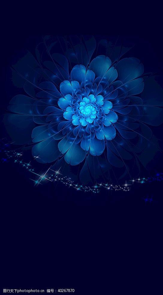 蓝色花背景图片