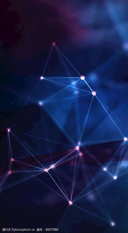 光点蓝色科技背景图片