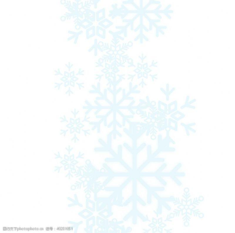 动漫动画蓝色雪花图片