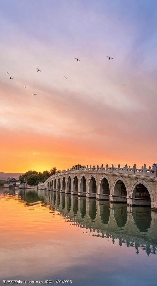 古建筑卢沟桥图片