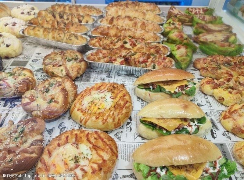 面包店面包图片