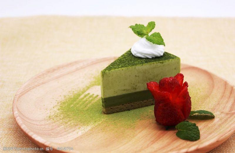 蛋糕面包抹茶蛋糕甜品图片