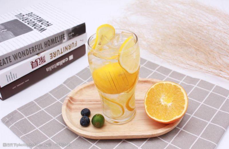 芒果柠檬水饮品冷饮图片