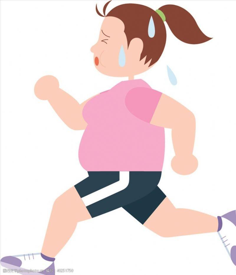 健身美女跑步图片