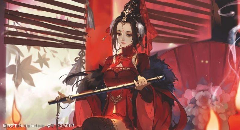 三国女性蔡文姬图片