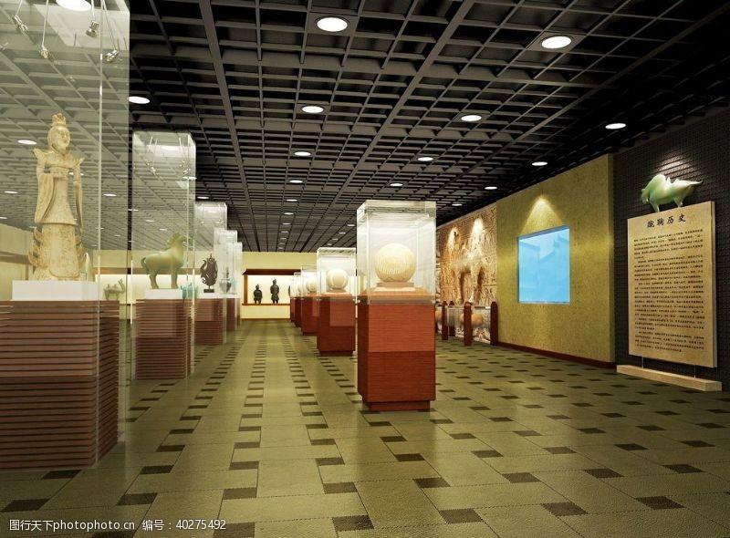 室内模型商业空间中式古朴博物馆图片