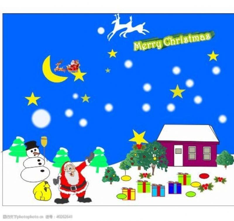 圣诞主题圣诞快乐矢量图图片