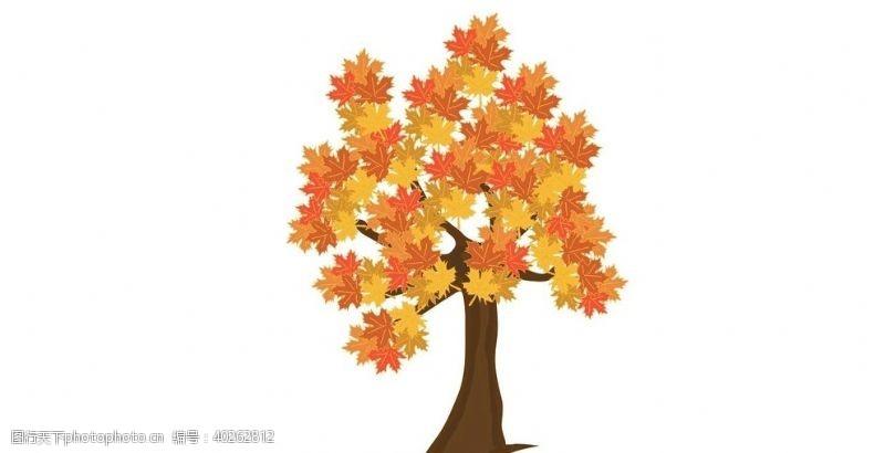 矢量大树卡通大树图片