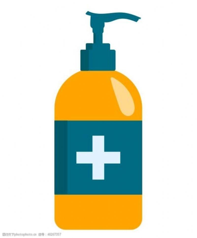 洗发水矢量消毒液图片