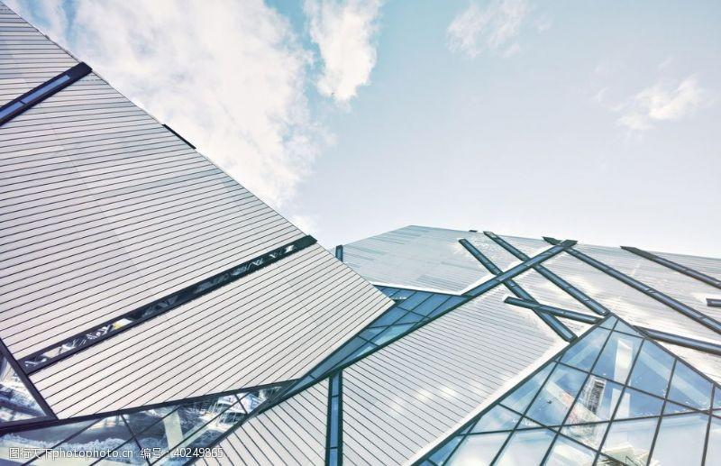 建筑外观视图玻璃高楼建造建筑图片