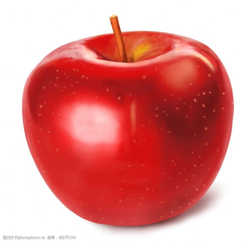 矢量水果手绘卡通苹果图片