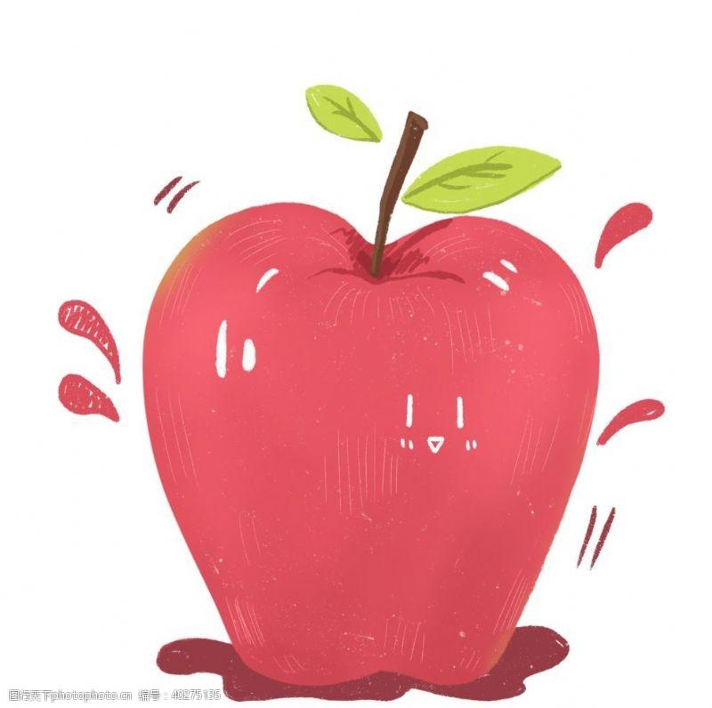 矢量水果手绘卡通苹果元素图片