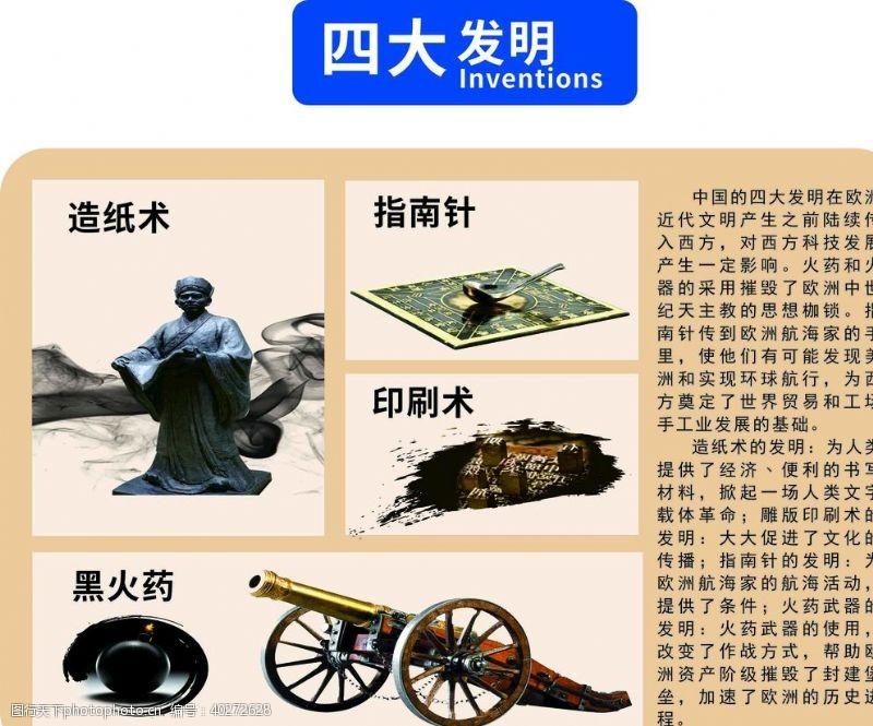 印刷术四大发明图片
