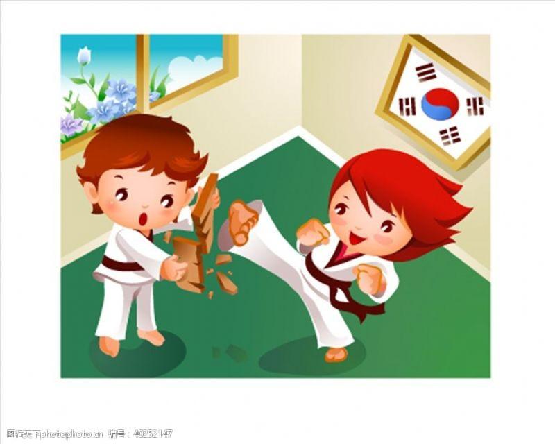 招生x展架跆拳道图片