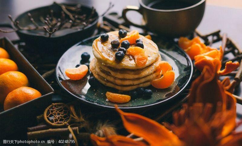 橘子甜点蛋糕图片