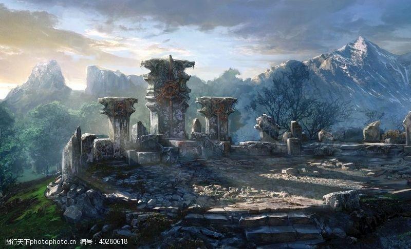 动作巫师3游戏场景图片